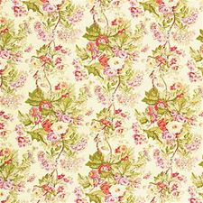 Pnk/Maize Print Drapery and Upholstery Fabric by Lee Jofa