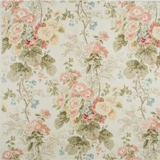 Coral/Olive Print Drapery and Upholstery Fabric by Lee Jofa