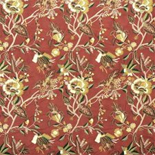 Brick Botanical Drapery and Upholstery Fabric by Lee Jofa