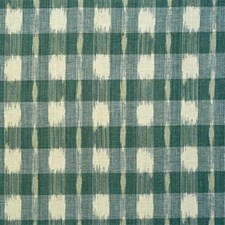 Aqua Check Drapery and Upholstery Fabric by Lee Jofa