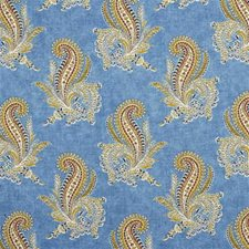 Blue Paisley Drapery and Upholstery Fabric by Lee Jofa