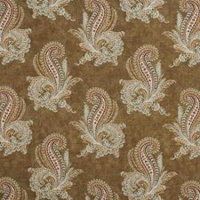Mocha Paisley Drapery and Upholstery Fabric by Lee Jofa