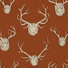 Rust Animal Drapery and Upholstery Fabric by Lee Jofa