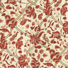 Red/Gold Jacobeans Drapery and Upholstery Fabric by Lee Jofa