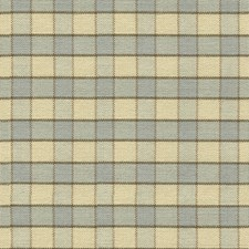 French Blue Check Drapery and Upholstery Fabric by Lee Jofa