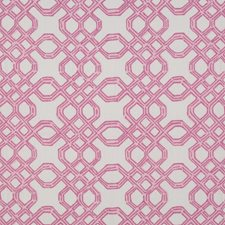 Conch Pink Lattice Drapery and Upholstery Fabric by Lee Jofa