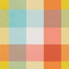 Orange/Blue Plaid Drapery and Upholstery Fabric by Lee Jofa