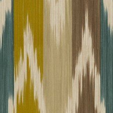 Teal/Green Ikat Drapery and Upholstery Fabric by Lee Jofa