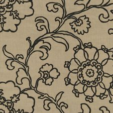 Coal Embroidery Drapery and Upholstery Fabric by Lee Jofa