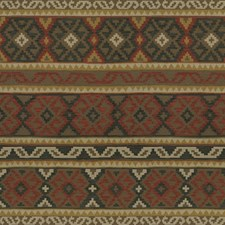 Paprika/Coal Ikat Drapery and Upholstery Fabric by Lee Jofa