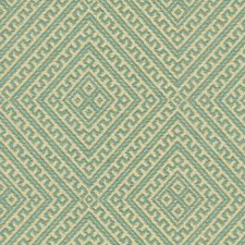 Teal Ethnic Drapery and Upholstery Fabric by Lee Jofa