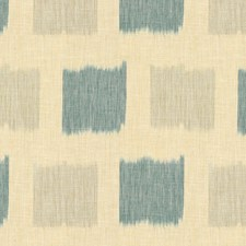 Seamist/Teal Ikat Drapery and Upholstery Fabric by Lee Jofa