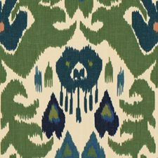 Green/Navy Ikat Drapery and Upholstery Fabric by Lee Jofa