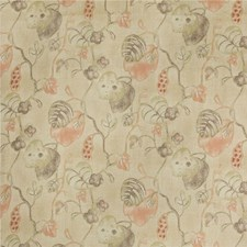Olive/Plum Botanical Drapery and Upholstery Fabric by Lee Jofa