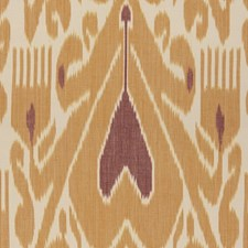 Gold/Ruby Ethnic Drapery and Upholstery Fabric by Lee Jofa