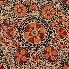 Spice/Ebony Asian Drapery and Upholstery Fabric by Lee Jofa