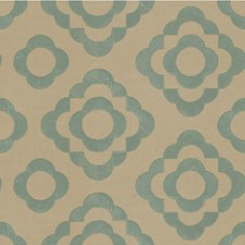 Blue Geometric Drapery and Upholstery Fabric by Lee Jofa