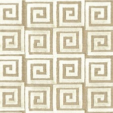 Ivory Geometric Drapery and Upholstery Fabric by Lee Jofa