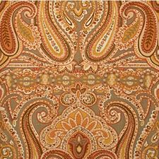 Taupe/Spice Paisley Drapery and Upholstery Fabric by Lee Jofa