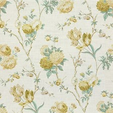 Green/Aqu Botanical Drapery and Upholstery Fabric by Lee Jofa