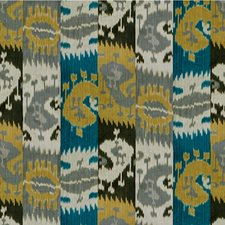 Gold/Grey Ikat Drapery and Upholstery Fabric by Lee Jofa