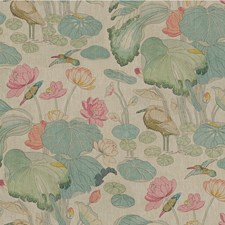Pink/Teal Animal Drapery and Upholstery Fabric by Lee Jofa