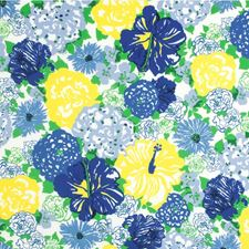 Blue/Yellow Outdoor Drapery and Upholstery Fabric by Lee Jofa