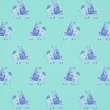 Shorely Blue Animal Drapery and Upholstery Fabric by Lee Jofa