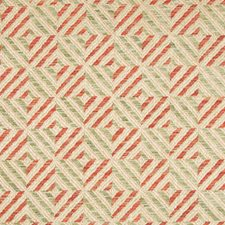 Jade/Red Paisley Drapery and Upholstery Fabric by Lee Jofa