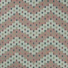 Aqua/Multi Ethnic Drapery and Upholstery Fabric by Lee Jofa
