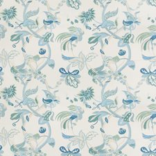 Jade/Mist Tropical Drapery and Upholstery Fabric by Lee Jofa