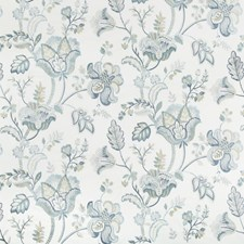 Juniper/Lagoon Botanical Drapery and Upholstery Fabric by Lee Jofa