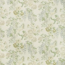 Sky/Green Botanical Drapery and Upholstery Fabric by Lee Jofa