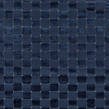 Navy Check Drapery and Upholstery Fabric by Lee Jofa