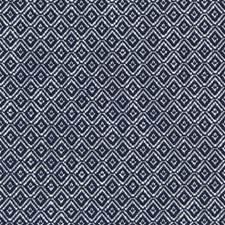 Navy Diamond Drapery and Upholstery Fabric by Lee Jofa