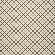 Brown Lattice Drapery and Upholstery Fabric by Lee Jofa