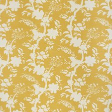 Amber Botanical Drapery and Upholstery Fabric by Lee Jofa