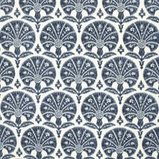 Navy Botanical Drapery and Upholstery Fabric by Lee Jofa