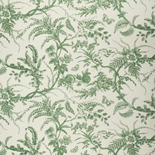 Paolos Green Botanical Drapery and Upholstery Fabric by Lee Jofa
