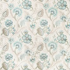 Aqua/Sage Botanical Drapery and Upholstery Fabric by Lee Jofa
