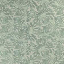 Aqua Botanical Drapery and Upholstery Fabric by Lee Jofa