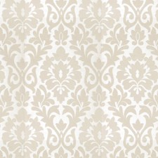 Parchment Damask Drapery and Upholstery Fabric by Fabricut