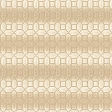 Cream Geometric Drapery and Upholstery Fabric by Fabricut