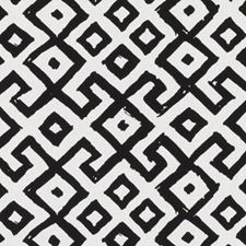 Black/White Ethnic Drapery and Upholstery Fabric by Duralee