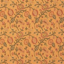 Yellow/Green/Brown Botanical Drapery and Upholstery Fabric by Kravet