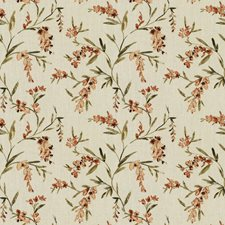 Clay Floral Drapery and Upholstery Fabric by Trend