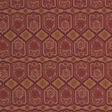 Burgundy/Red/Beige Drapery and Upholstery Fabric by Kravet