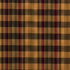 Yellow/Burgundy/Red Plaid Drapery and Upholstery Fabric by Kravet