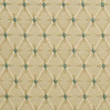 Beige/Blue Diamond Drapery and Upholstery Fabric by Kravet
