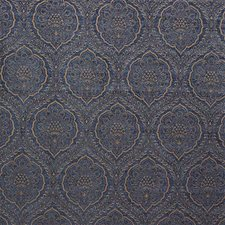 Blue/Yellow Damask Drapery and Upholstery Fabric by Kravet